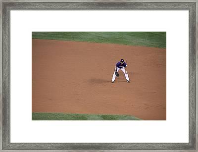 Send That Ball My Way Framed Print by Cynthia  Cox Cottam
