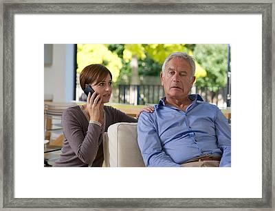 Senior Man Having A Stroke Framed Print by