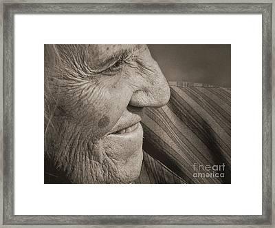 Senior Smile Framed Print by Lin Haring