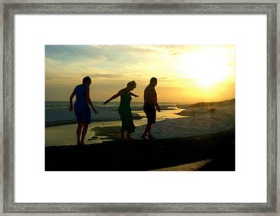 Seniors At Playtime Framed Print