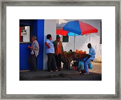 Senor Papaya Framed Print