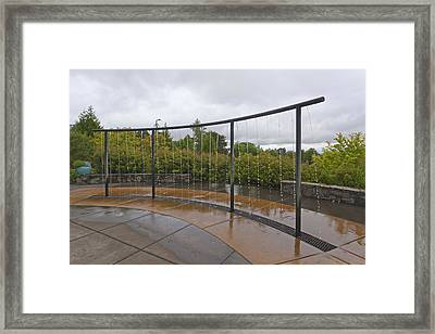 Sensory Garden Water Feature Framed Print