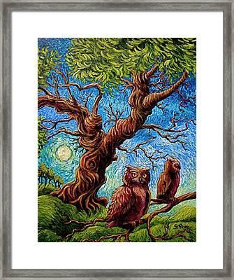 Sentient Owls Framed Print