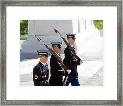 Sentinels At The Tomb Framed Print by Dan Wells