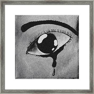 Separation In Blackand White Framed Print by Darren Stein