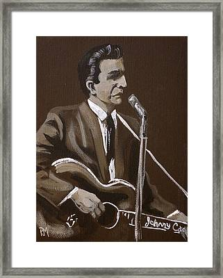 Sepia Johnny Framed Print by Pete Maier