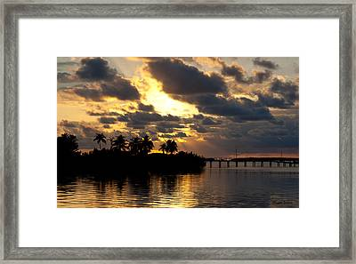 Sepia Sunset Framed Print by Michelle Wiarda