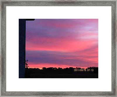 September 16 Sunrise Five Framed Print by Tina M Wenger