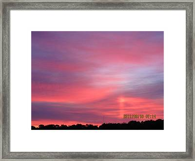 September 16 Sunrise Six Framed Print by Tina M Wenger