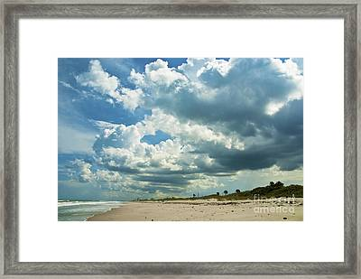 September Beach 3 Framed Print by Susanne Van Hulst