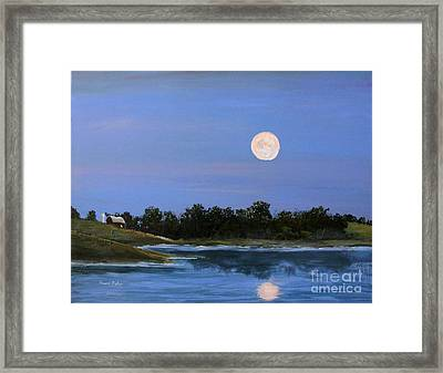 Framed Print featuring the painting September Moon by Susan Fisher