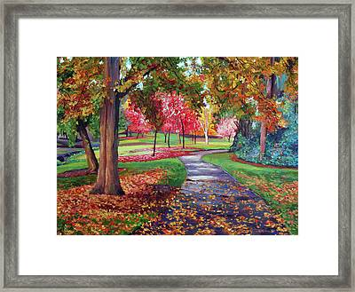 September Park Framed Print by David Lloyd Glover