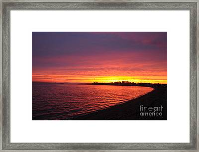Framed Print featuring the photograph September Sunset by Cindy Lee Longhini