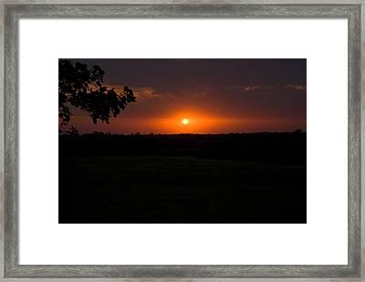 September Sunset Framed Print