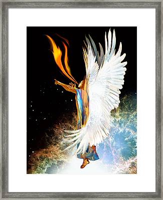 Seraph Calls Out Framed Print by Ron Cantrell