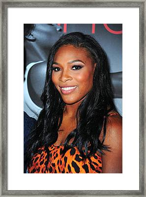 Serena Williams At Arrivals Framed Print