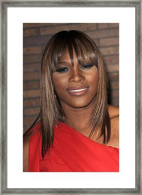 Serena Williams At Arrivals For Glamour Framed Print by Everett