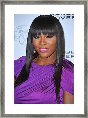 Serena Williams At Arrivals For Range Framed Print