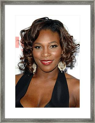 Serena Williams At Arrivals For The Framed Print by Everett