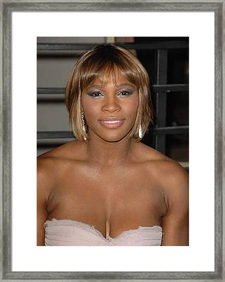 Serena Williams At Arrivals For Vanity Framed Print by Everett