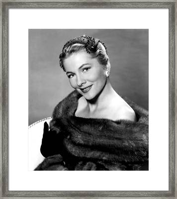 Serenade, Joan Fontaine, 1956 Framed Print