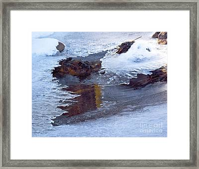 Serendipity In Ice  Framed Print