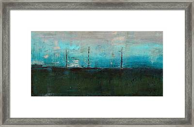 Framed Print featuring the painting Serene by Kathy Sheeran