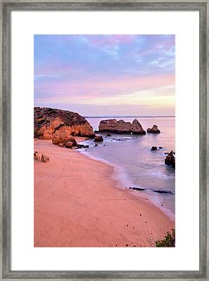 Serene Pastel Shores Framed Print by Monica and Michael Sweet