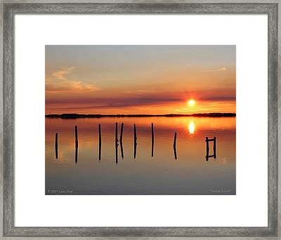 Serene Sound Framed Print