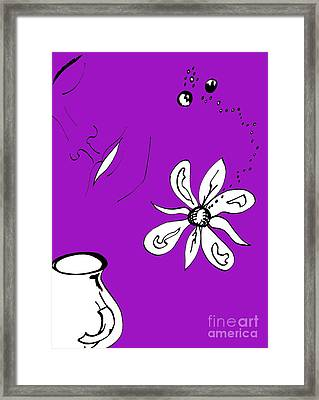 Serenity In Purple Framed Print by Mary Mikawoz