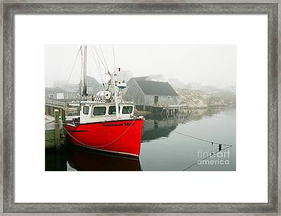 Serenity In Red Framed Print by Frank Townsley