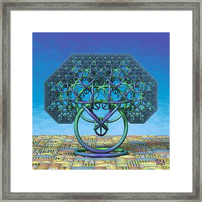 Framed Print featuring the digital art Serenity by Manny Lorenzo