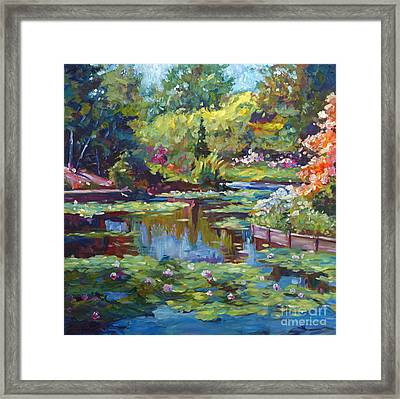 Serenity Pond Framed Print by David Lloyd Glover