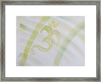 Framed Print featuring the painting Serenity by Sonali Gangane