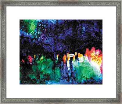 Serenity Unfolds Framed Print by The Art of Marsha Charlebois