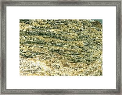 Sericite Mineral Framed Print