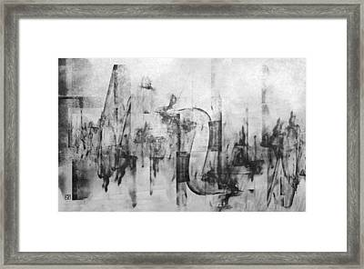 Serious Fun In The Heart Of The City Framed Print by Jean Moore