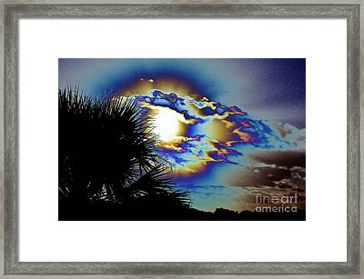 Serious Moonlight Framed Print