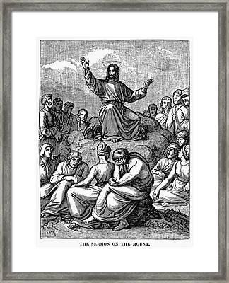 Sermon On The Mount Framed Print by Granger