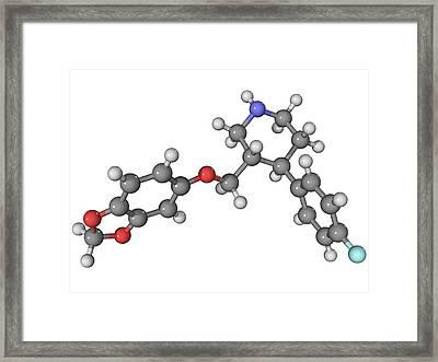 Seroxat Antidepressant Drug Molecule Framed Print by Laguna Design