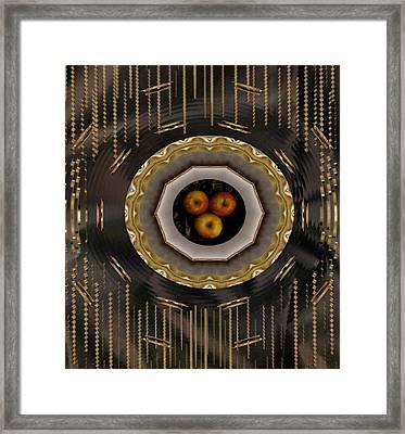 Served On Gold Plate Framed Print