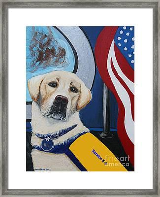 Service K9 Framed Print by Ania M Milo