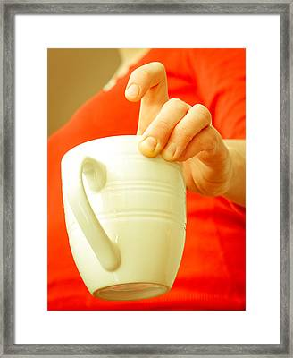 Serving Coffee Framed Print