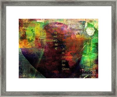 Serving In Silence Framed Print