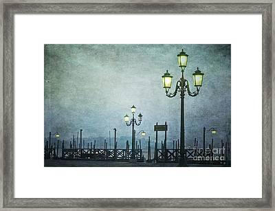 Servizio Gondole Framed Print by Marion Galt