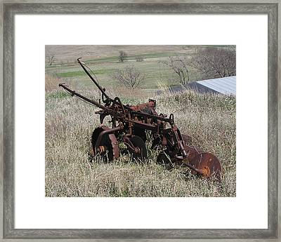 Framed Print featuring the photograph Set Out To Pasture by Steve Sperry