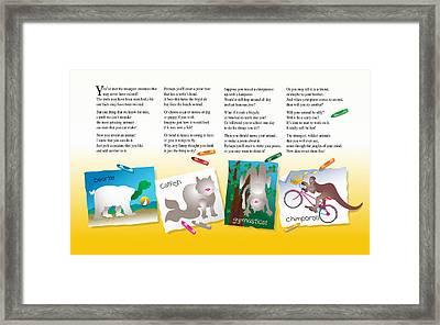 Set Your Imagination Free Framed Print by Gene Rosner