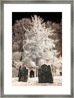 Setauket Graveyard Framed Print