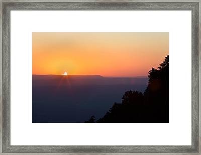 Setting Eclipsed Framed Print