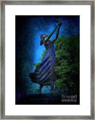 Setting Free My Little Angel In Blue Framed Print by Lee Dos Santos